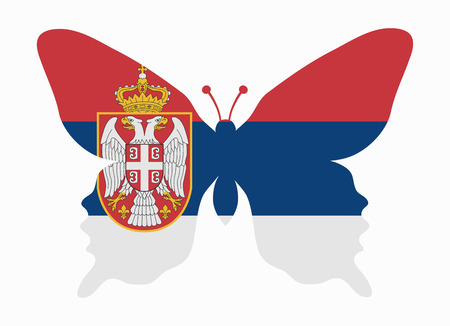 serbia flag: serbia flag butterfly