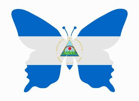 nicaragua: nicaragua flag butterfly