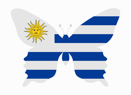 bandera de uruguay: Uruguay bandera de la mariposa Vectores