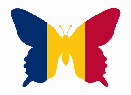 tchad: chad flag butterfly