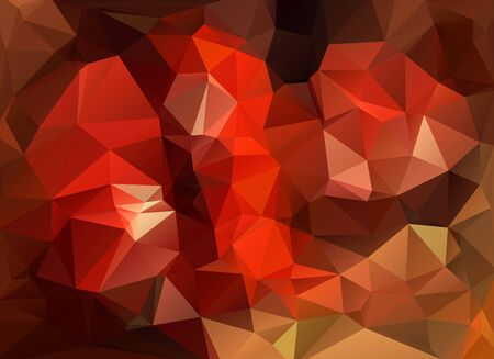 garnet: low poly garnet and red background Illustration