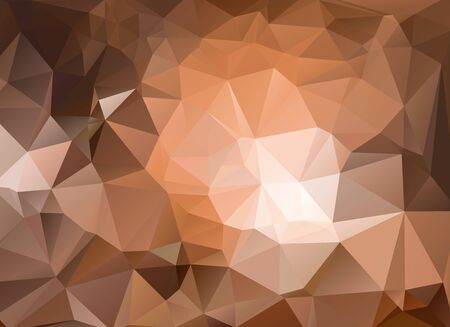 dark brown background: low poly light and dark brown background Illustration