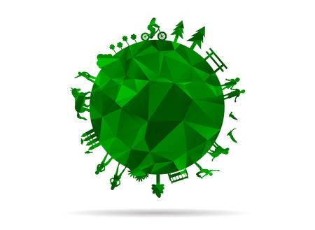 greener: low poly greener world