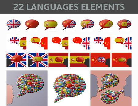language: set 22 elements language