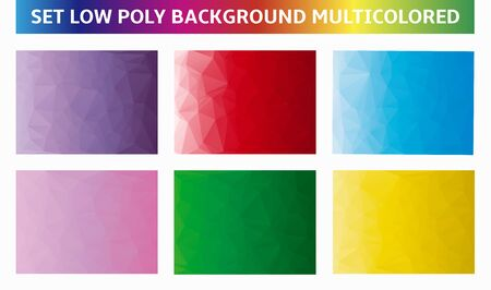 multicolored background: set multicolored background low poly