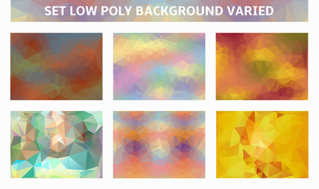 varied: set low poly varied backgrounds