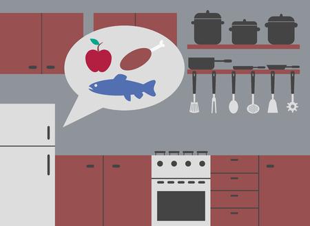 refrigerator kitchen: kitchen with refrigerator smart