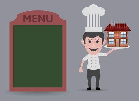 compose: chef showing menu home
