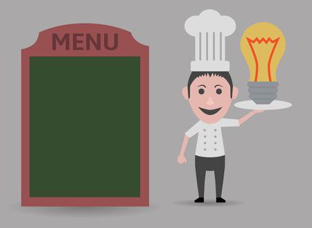 original: chef showing original menu