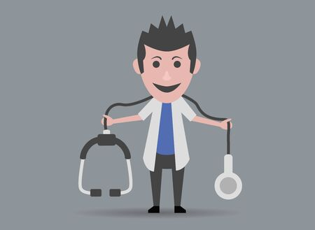 stethoscope boy: boy doll doctor with stethoscope