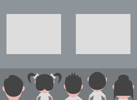 group of people in meeting Illustration