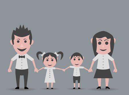 happy family: happy family walking