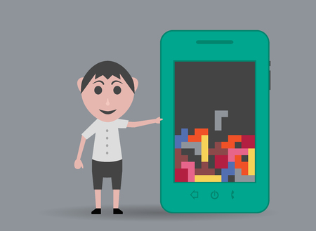 boy at phone: doll boy cell phone game