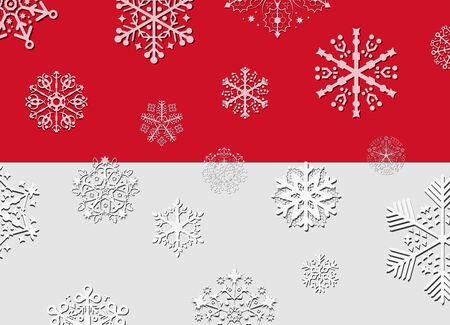 monaco: monaco flag with snowflakes Illustration