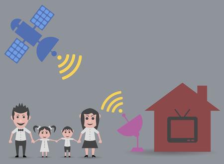 satellite tv: family home satellite tv