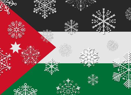 jordan: jordan flag with snowflakes