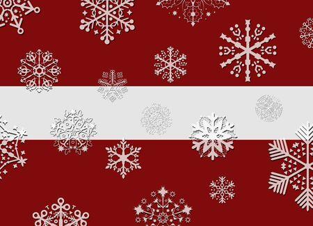 latvia: latvia flag with snowflakes