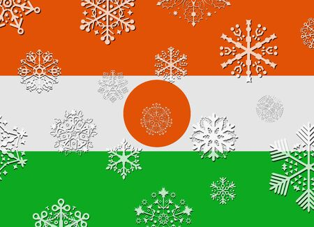 niger: niger flag with snowflakes