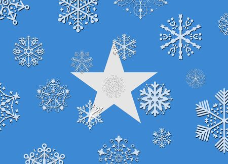 somalia: somalia flag with snowflakes