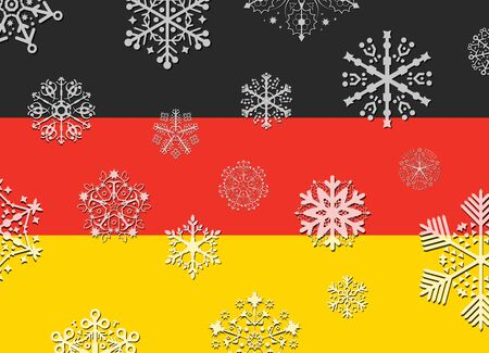 germany flag: germany flag with snowflakes