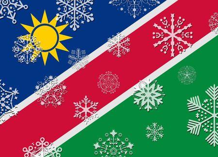 namibia: namibia flag with snowflakes