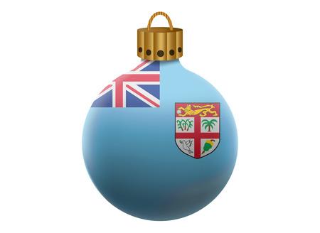fiji: fiji christmas ball isolated