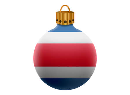 costa: costa rica christmas ball isolated Illustration