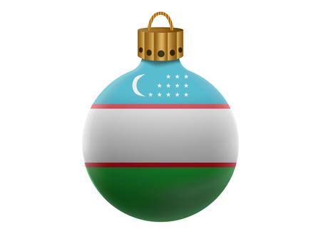 oezbekistan: uzbekistan christmas ball isolated
