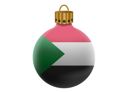 Sudan: sudan christmas ball isolated