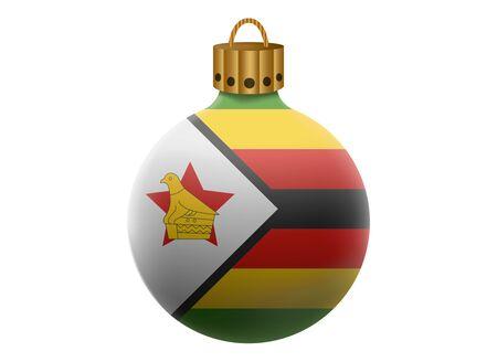 zimbabwe: bola de Navidad aislado Zimbabwe Vectores