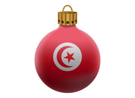 tunisia: tunisia christmas ball isolated