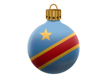 congo: congo christmas ball isolated Illustration