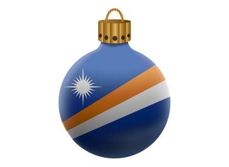 marshall: marshall christmas ball isolated Illustration