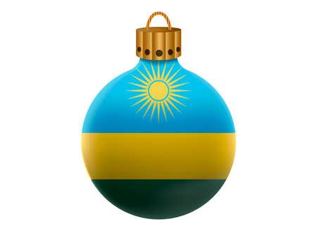 rwanda: rwanda christmas ball isolated