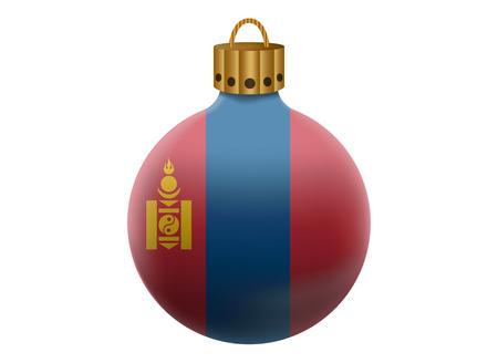 mongolia: mongolia christmas ball isolated