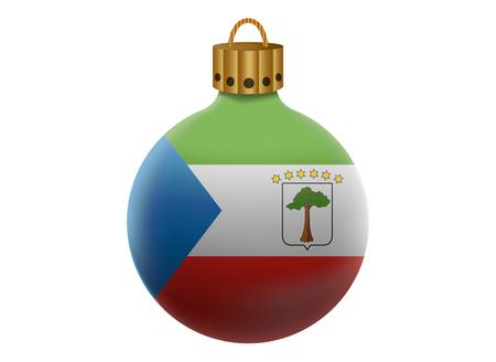 equatorial: guinea equatorial christmas ball isolated