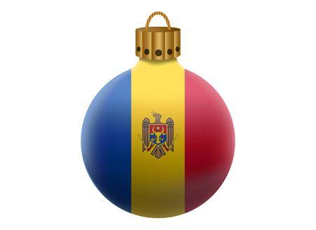 moldova: moldova christmas ball isolated