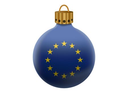 evropský: european union christmas ball isolated