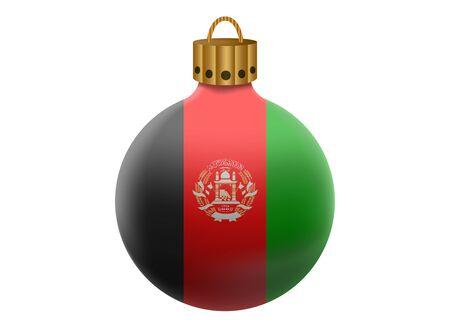 afghanistan': afghanistan christmas ball isolated