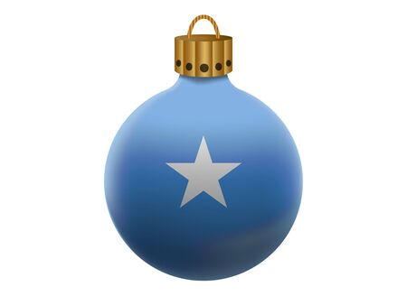 somalia: somalia christmas ball isolated