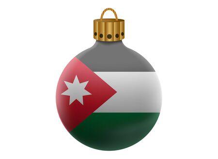 jordanian: jordan christmas ball isolated