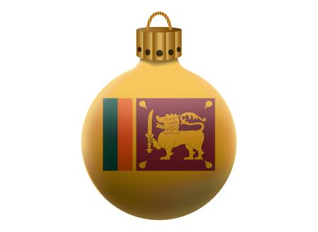 sri lanka: sri lanka christmas ball isolated