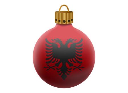 albania: albania christmas ball isolated