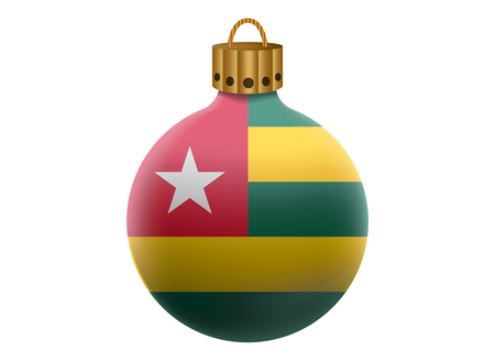 togo: togo christmas ball isolated