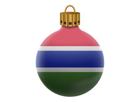 gambia: gambia christmas ball isolated