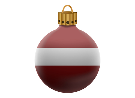 latvia: latvia christmas ball isolated Illustration