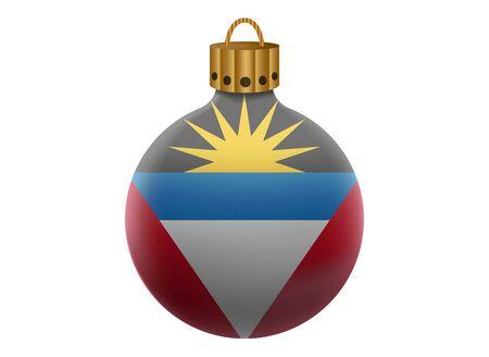 antigua: antigua christmas ball isolated