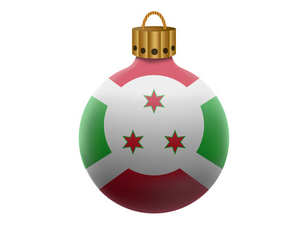 burundi: burundi christmas ball isolated
