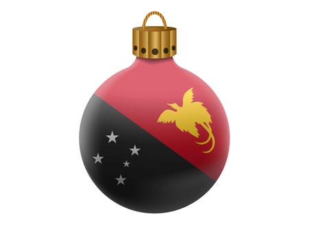Nuova Guinea: nuova guinea Natale palla isolato