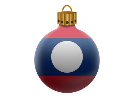 laos: laos christmas ball isolated Illustration